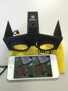 こちらは、iPhone前面に装着するアダプタタイプ。それでも操作時には外す必要がある。